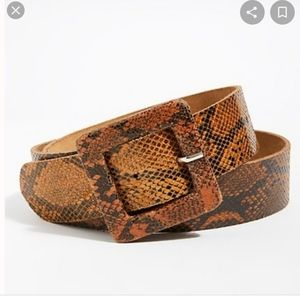 Free People Aston snakeskin leather belt